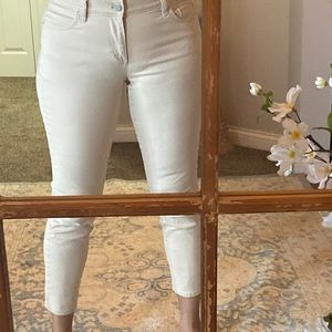 Loft Modern fit Beige Capri Jeans